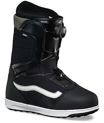 Vans Encore Boa Black & White Snowboard Boots