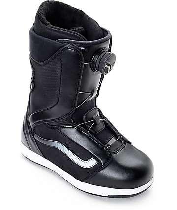 Vans Encore Boa botas de snowboard en blanco y negro para mujeres