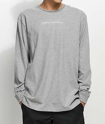 Vans Ensign camiseta de manga larga en gris jaspeado