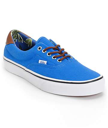 Vans Era 59 Blue & Aloha Print Canvas Skate Shoes (Mens)