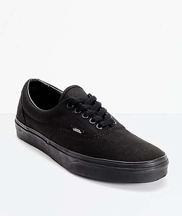 Vans Era Classic All Black Skate Shoes (Mens)