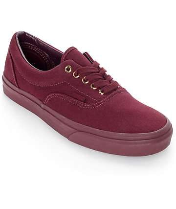 Vans Era Gold Mono Port Royale Skate Shoes