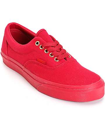 Vans Era Mono Crimson Skate Shoes