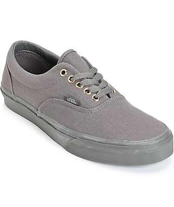 Vans Era Mono Grey Skate Shoes (Mens)