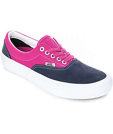 Vans Era Pro Navy & Fuchsia Skate Shoes