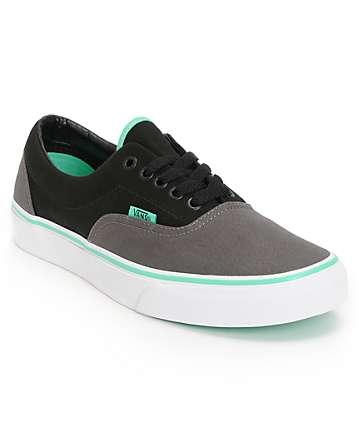 Vans Era zapatos de skate en colores carbón, negro, y menta verde (hombre)