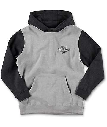 Vans Fairton Boys Cement & Black Heather Hoodie