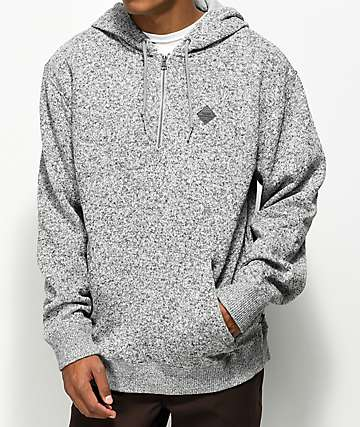 Vans Flurry Quarter Zip Up Heather Grey Hoodie