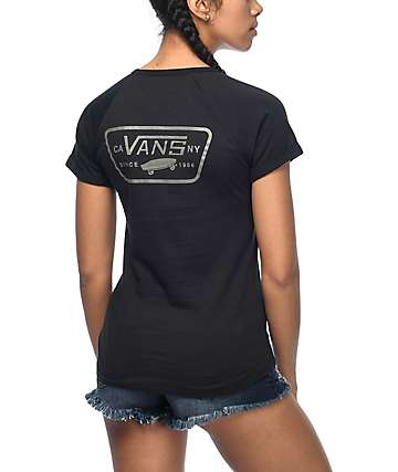 Vans Full Patch Black Cuffed Raglan T-Shirt