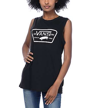 Vans Full Patch Black Muscle Tank Top
