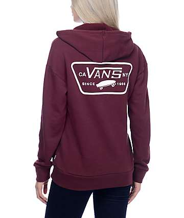 Vans Full Patch Burgundy Pullover Hoodie