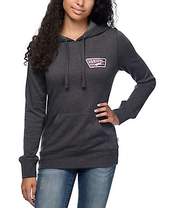 Vans Full Patch Charcoal & Burgundy Pullover Hoodie