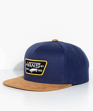 Vans Full Patch Dress Blue & Dark Khaki Snapback Hat
