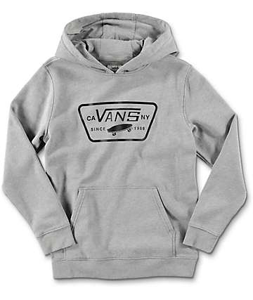 Vans Full Patch Front Heather Grey Youth Hoodie