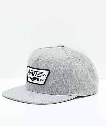 Vans Full Patch Heather Grey Snapback Hat
