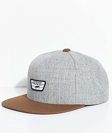 Vans Full Patch II Grey & Brown Snapback Hat