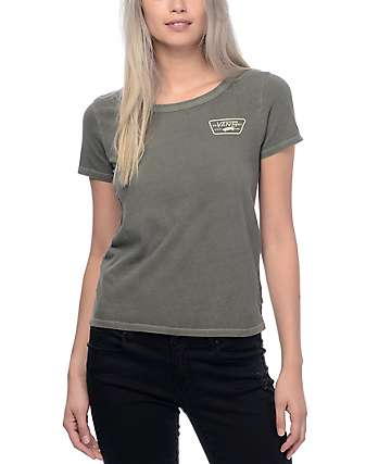 Vans Full Patch Olive Pigment Dyed T-Shirt