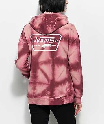 Vans Full Patch Pink Tie Dye Hoodie