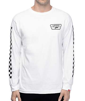 Vans Full Patch White Long Sleeve T-Shirt