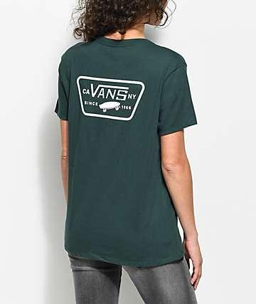 Vans Full Patch camiseta verde extra grande
