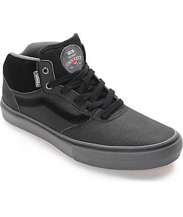 Vans Gilbert Crockett Pro Mid Xtuff Black & Grey Skate Shoes (Mens)