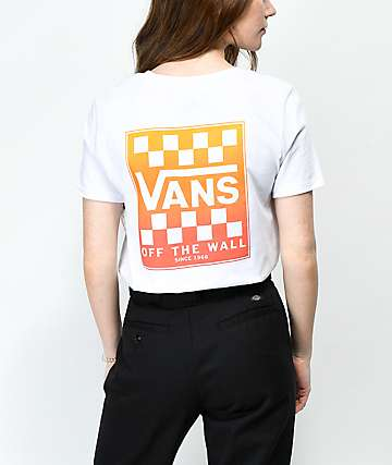 Vans Graident Box White Boyfriend T-Shirt