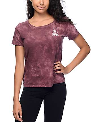 Vans Grave Peace Burgundy Cloudwash T-Shirt