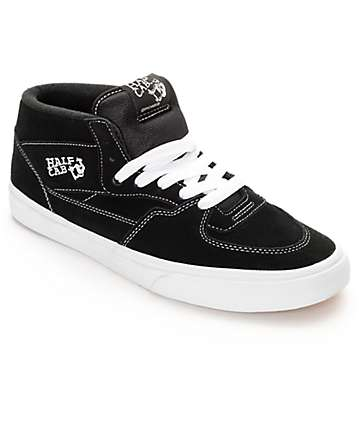 Vans Half Cab Black & White Skate Shoes