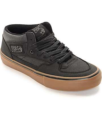 Vans Half Cab Pro Xtuff Black & Gum Skate Shoes