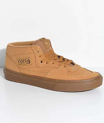 Vans Half Cab Vansbuck Gum Mono Skate Shoes