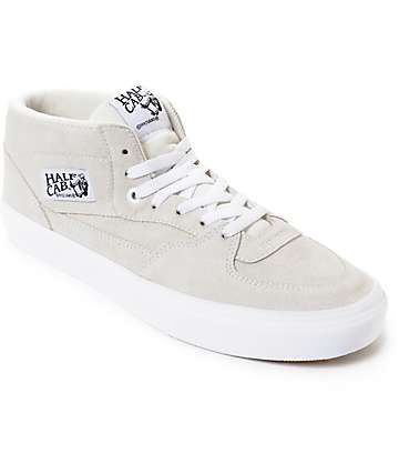 Vans Half Cab White & True White Skate Shoes