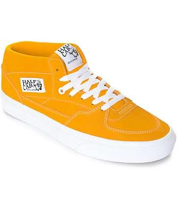 Vans Half Cab zapatos de skate en blanco y color naranja