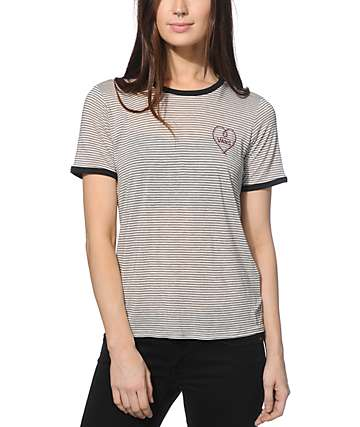 Vans Heart Drop V Ringer T-Shirt