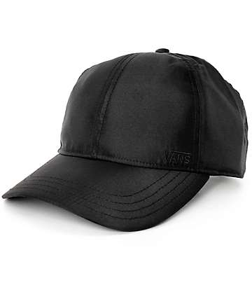 Vans Its Good Satin Black Strapback Hat