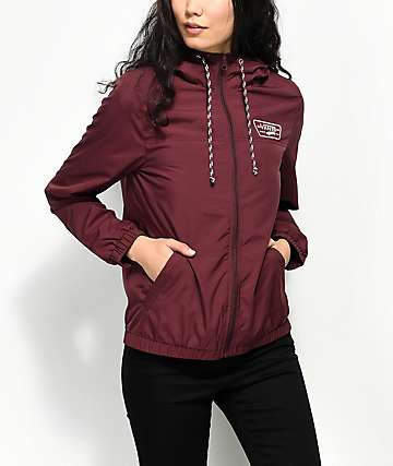 Vans Kastle MTE Burgundy Windbreaker Jacket
