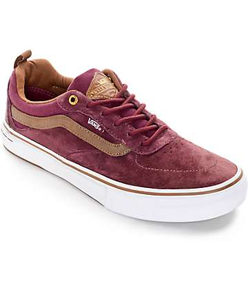 Vans Kyle Walker Pro Red and Brown Skate Shoes