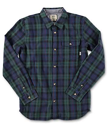 Vans Lachlan Boys Green Gables & Dress Blues Flannel Shirt