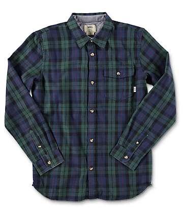 Vans Lachlan Boys camisa de franela en azul y verde