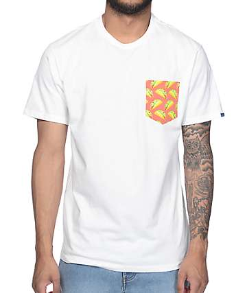 Vans Late Night Taco White Pocket T-Shirt