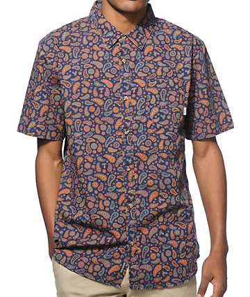 Vans Linville Paisley Button Up Shirt