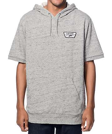 Vans Moreno Heather Grey Short Sleeve Hoodie