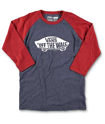 Vans OTW Boys Navy & Red Baseball T-Shirt
