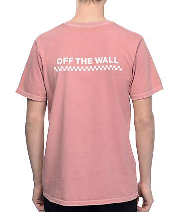 Vans OTW Check Pigment Dyed Rose T-Shirt