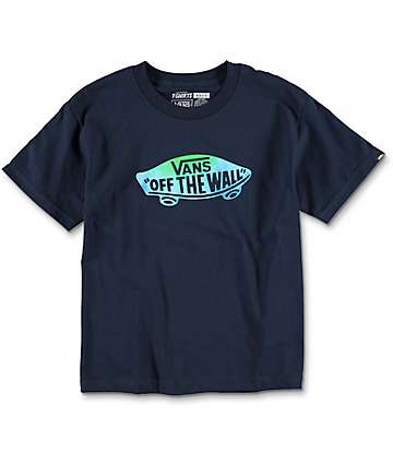 Vans OTW Logo Fill Boys Navy T-Shirt