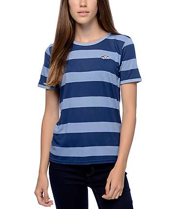 Vans OTW Patch Blue Rugby Stripe Ringer T-Shirt