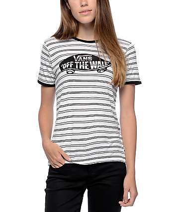 Vans OTW White & Black Striped Ringer T-Shirt