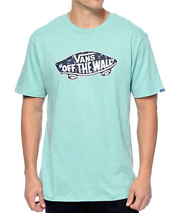Vans Off The Wall Logo Floral Fill Mint T-Shirt