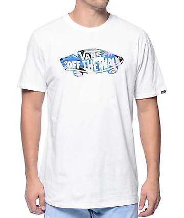 Vans Off The Wall Logo Floral Fill White T-Shirt