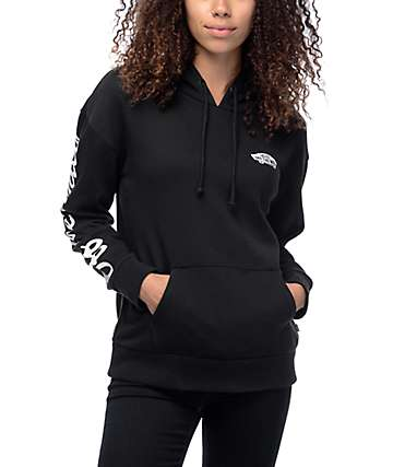 Vans Off The Wall Sleeve Black Hoodie