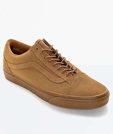 Vans Old Skool Brown Skate Shoes (Mens)